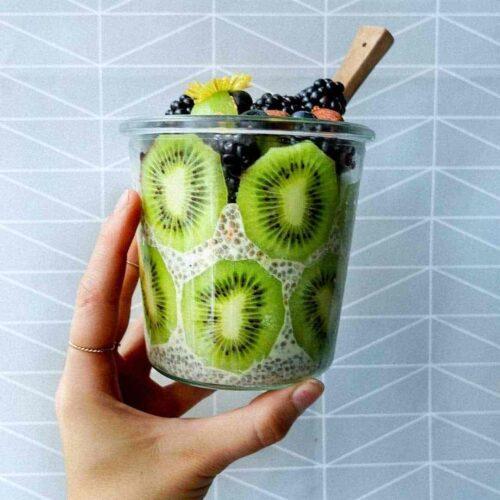 chiagrød kiwi frugt