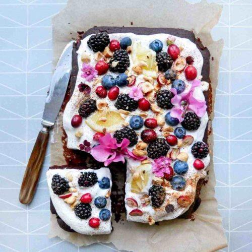 chokoladekage toppings vegansk
