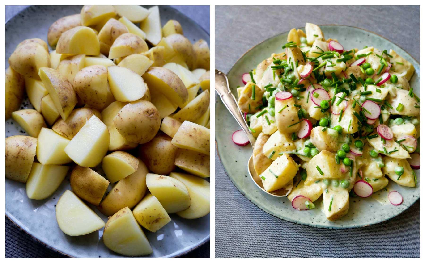 opskrift på vegansk aftensmad kartoffel salat