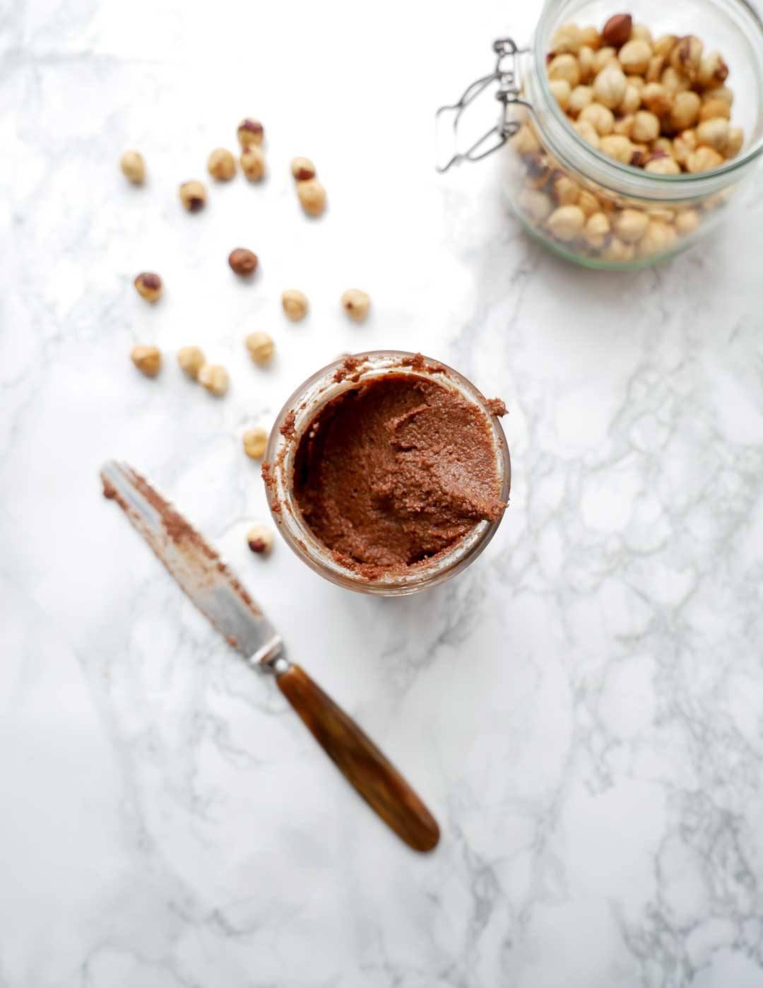 homemade healthy vegan nutella spread