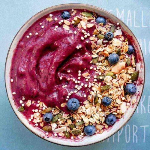 blåbær smoothie bowl
