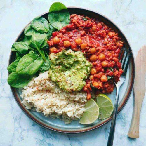 vegetar simreret avocado rice