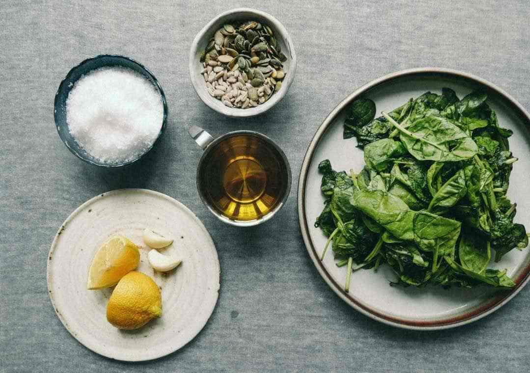spinatpesto ingredienser