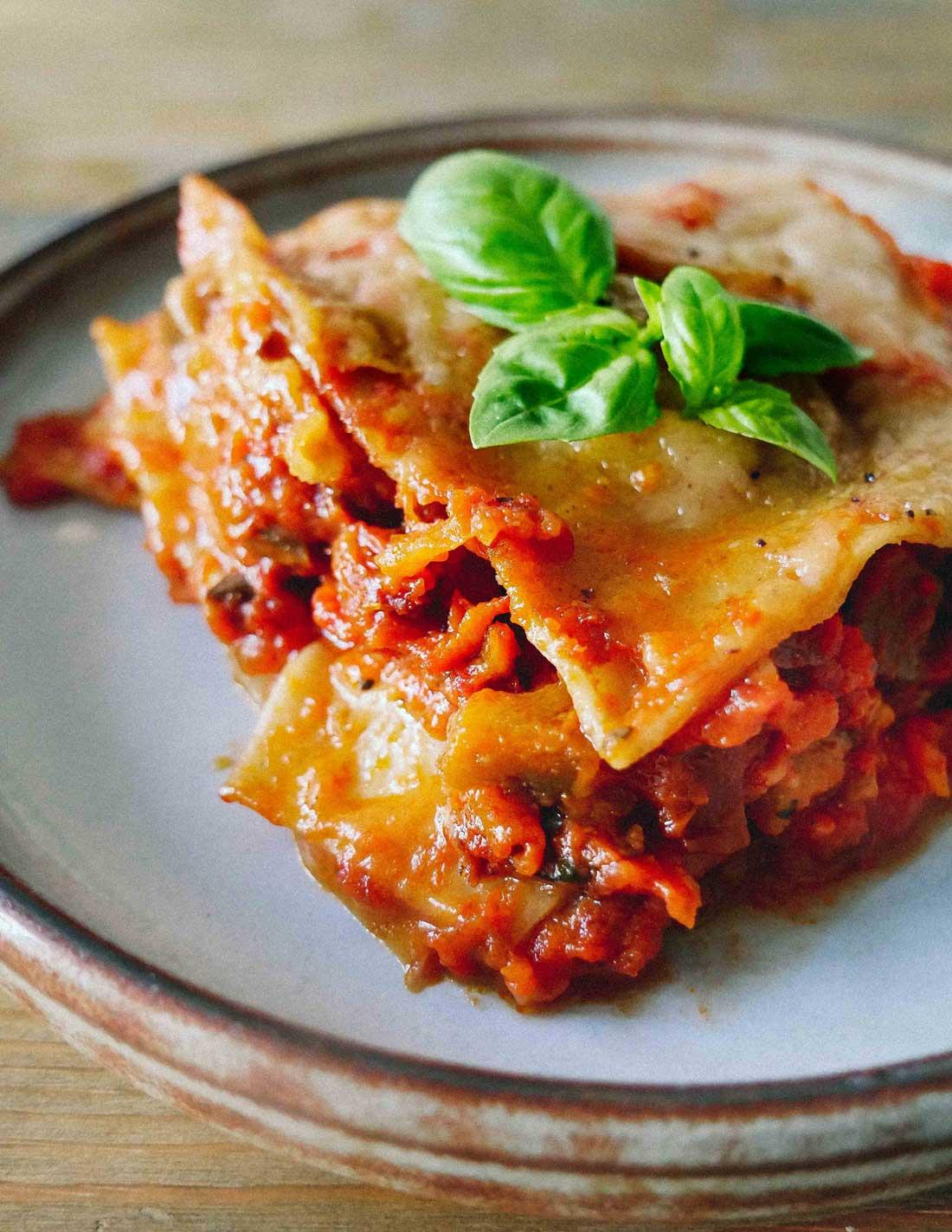 nem opskrift på vegansk lasagne