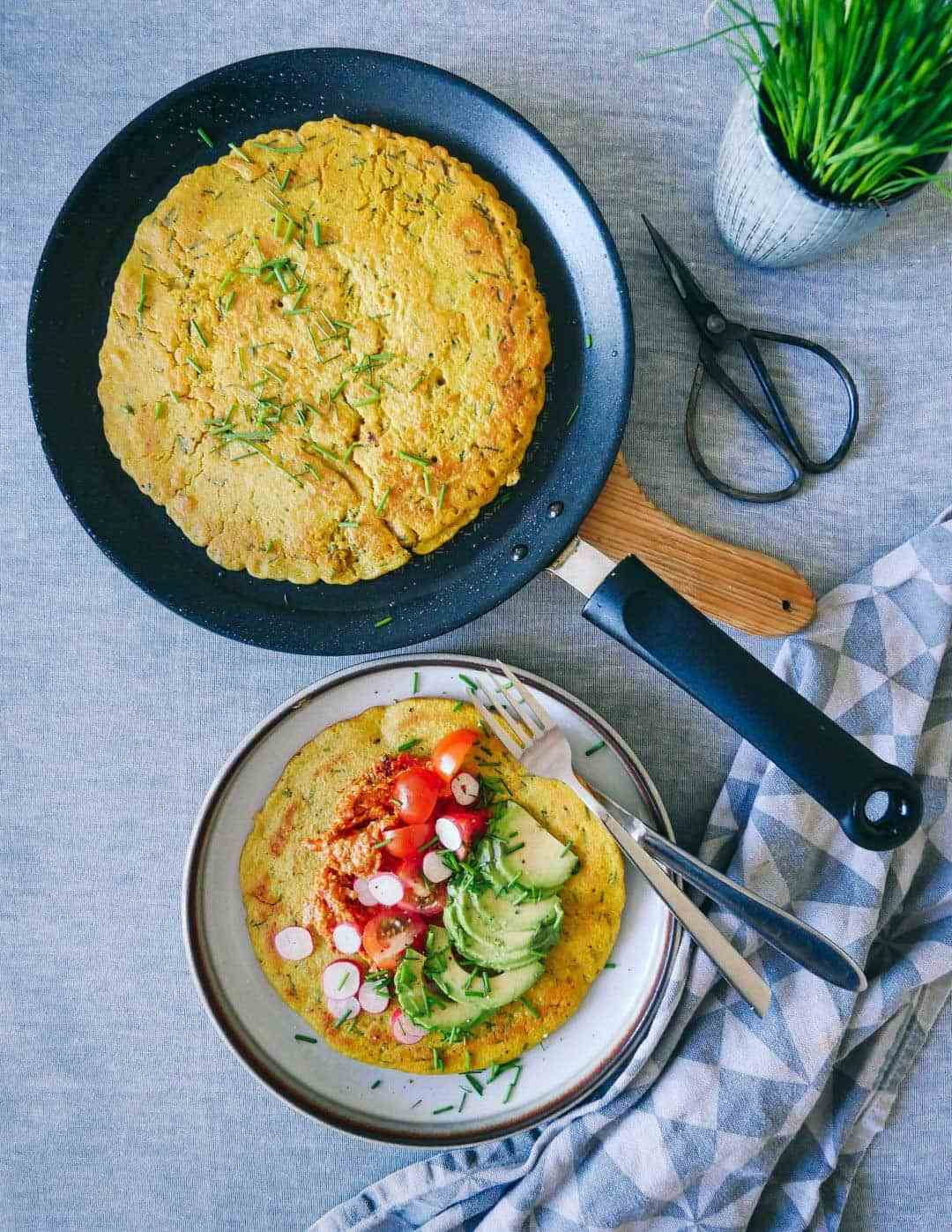 æggefri omelet vegansk