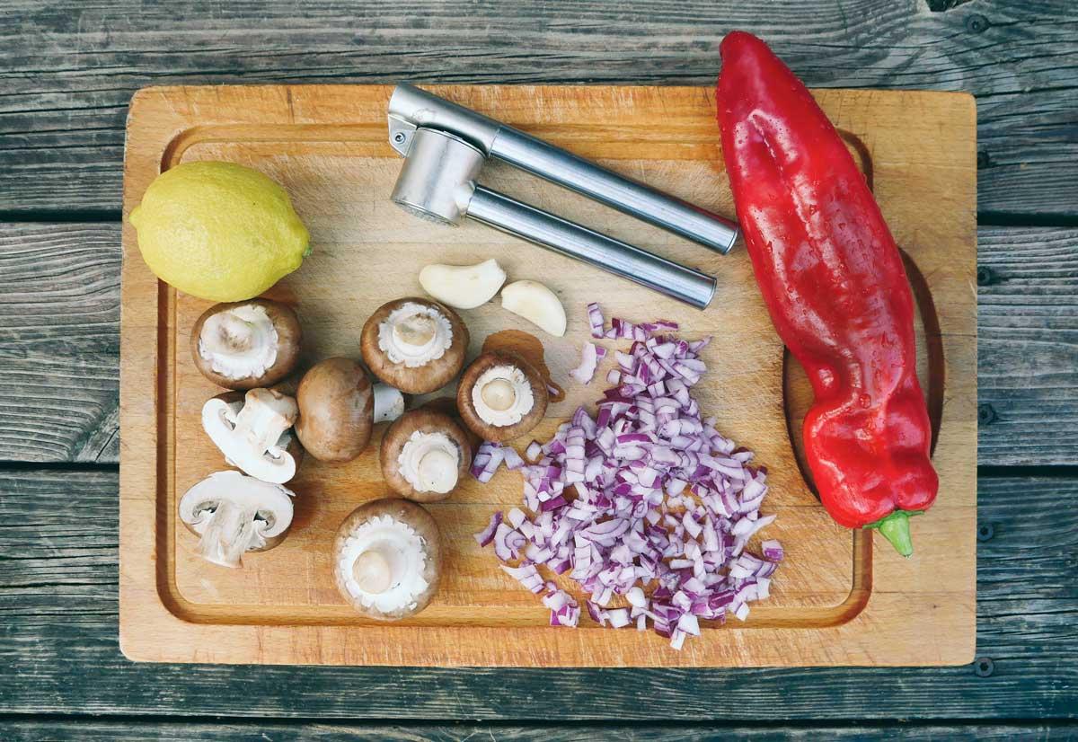ingredienser til vegansk pølse opskrift