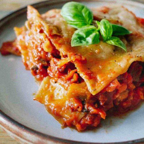 Grøntsagslasagne den bedste veganske lasagne