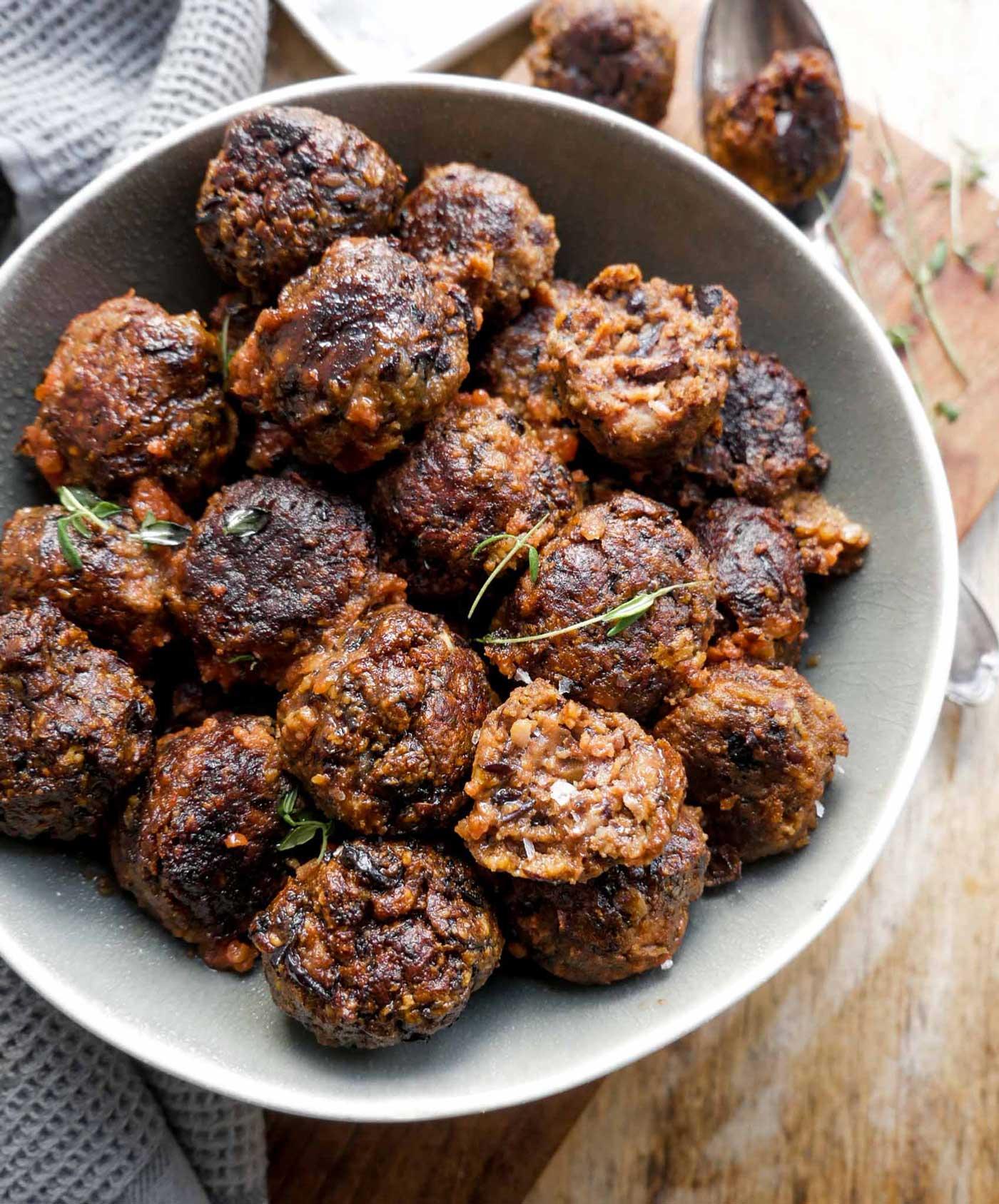 bedste vegansk kødbolle opskrift med sorte bønner