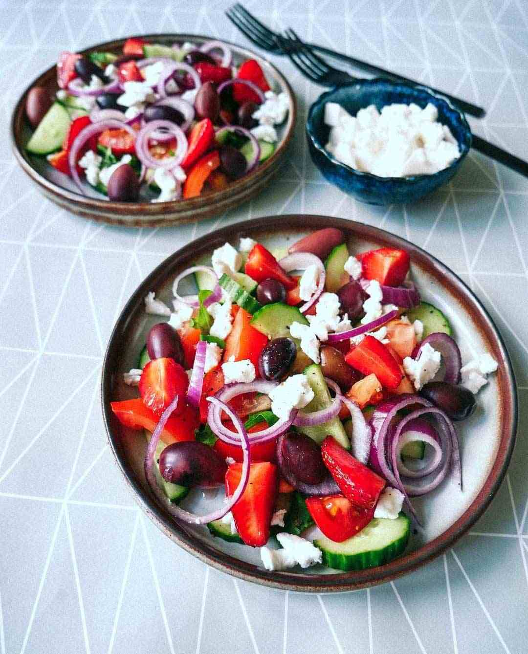 greek salad vegan