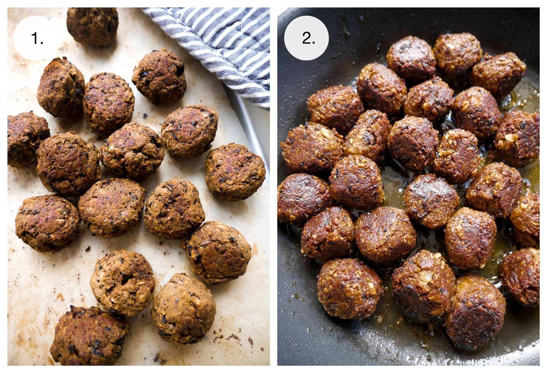 falafel boller uden kød i ovn og stegt på panden