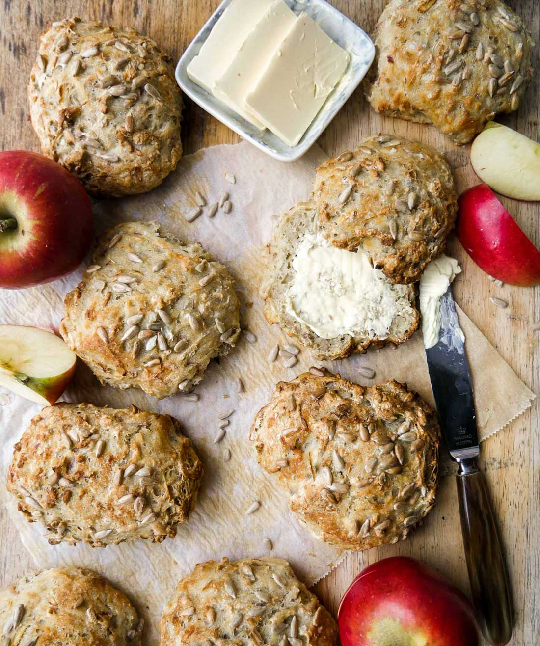 boller med æble vegansk opskrift på boller