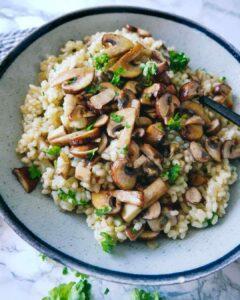 risotto med svampe opskrift