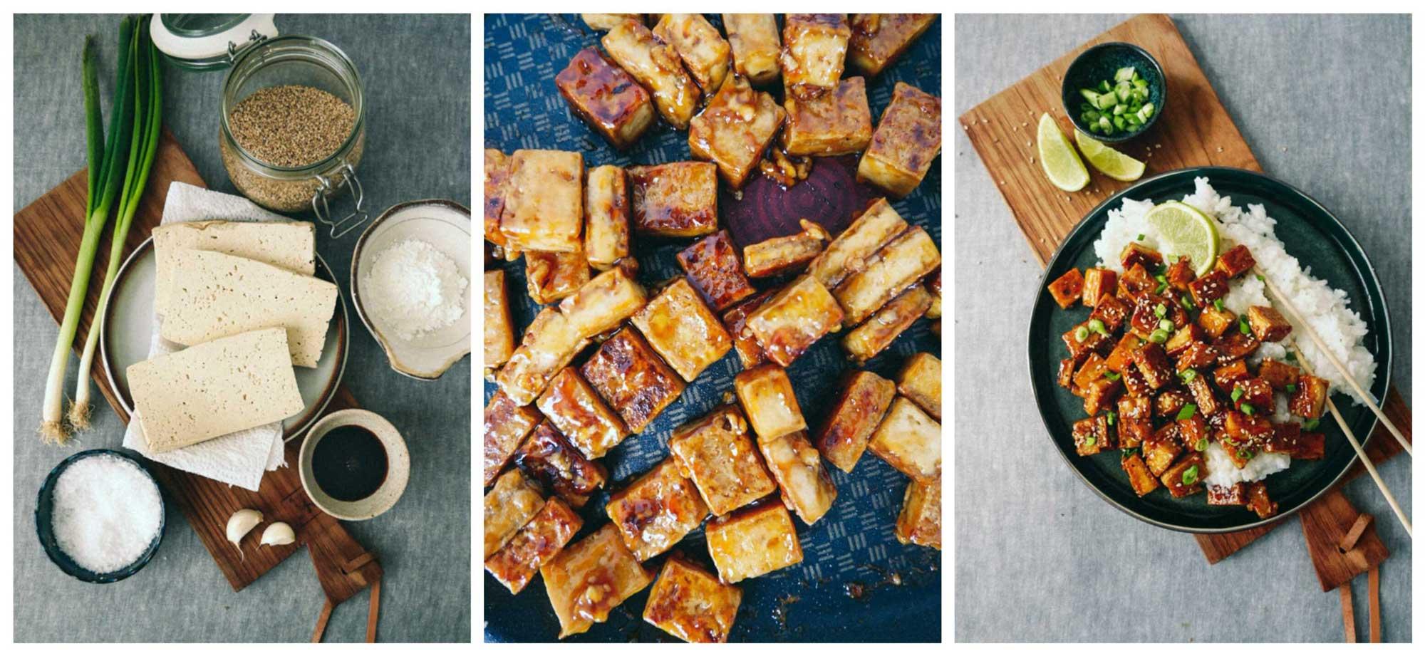 tofuopskrift med ris og marinade