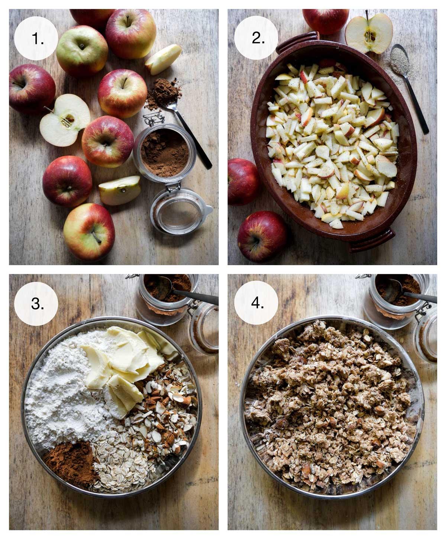 sådan laves æblecrumble