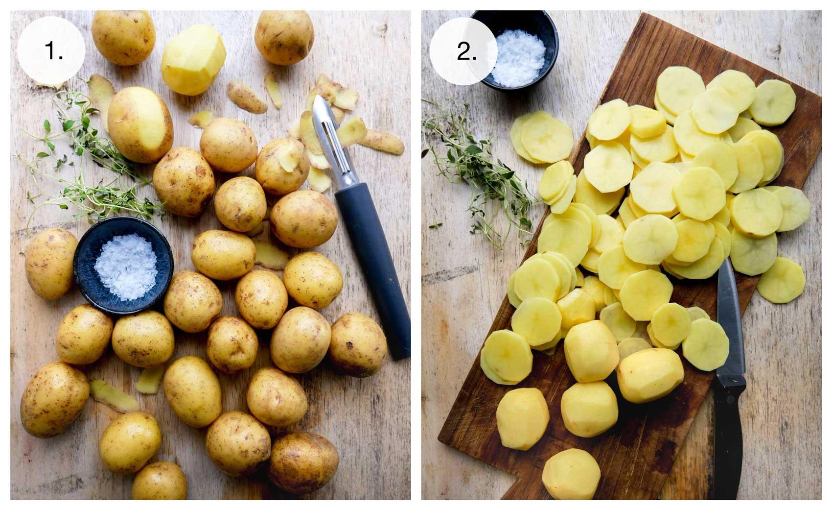 hakkede kartofler