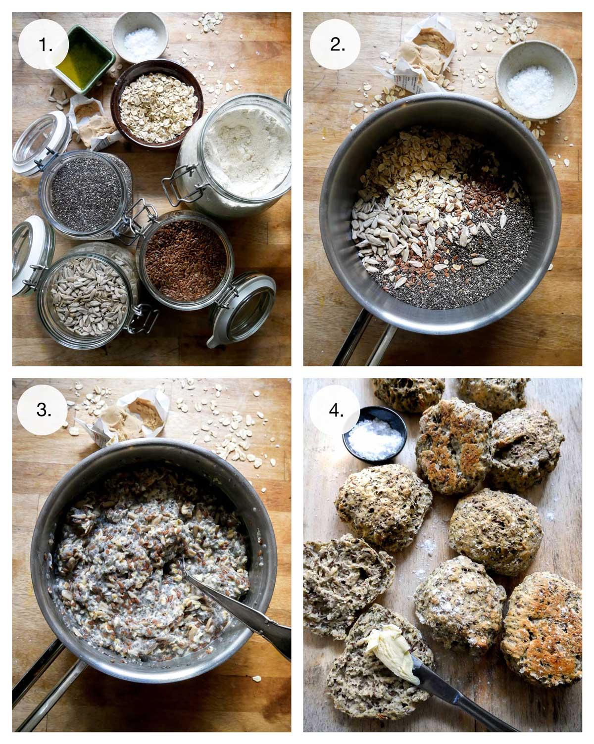 opskrift på grødboller med kerner