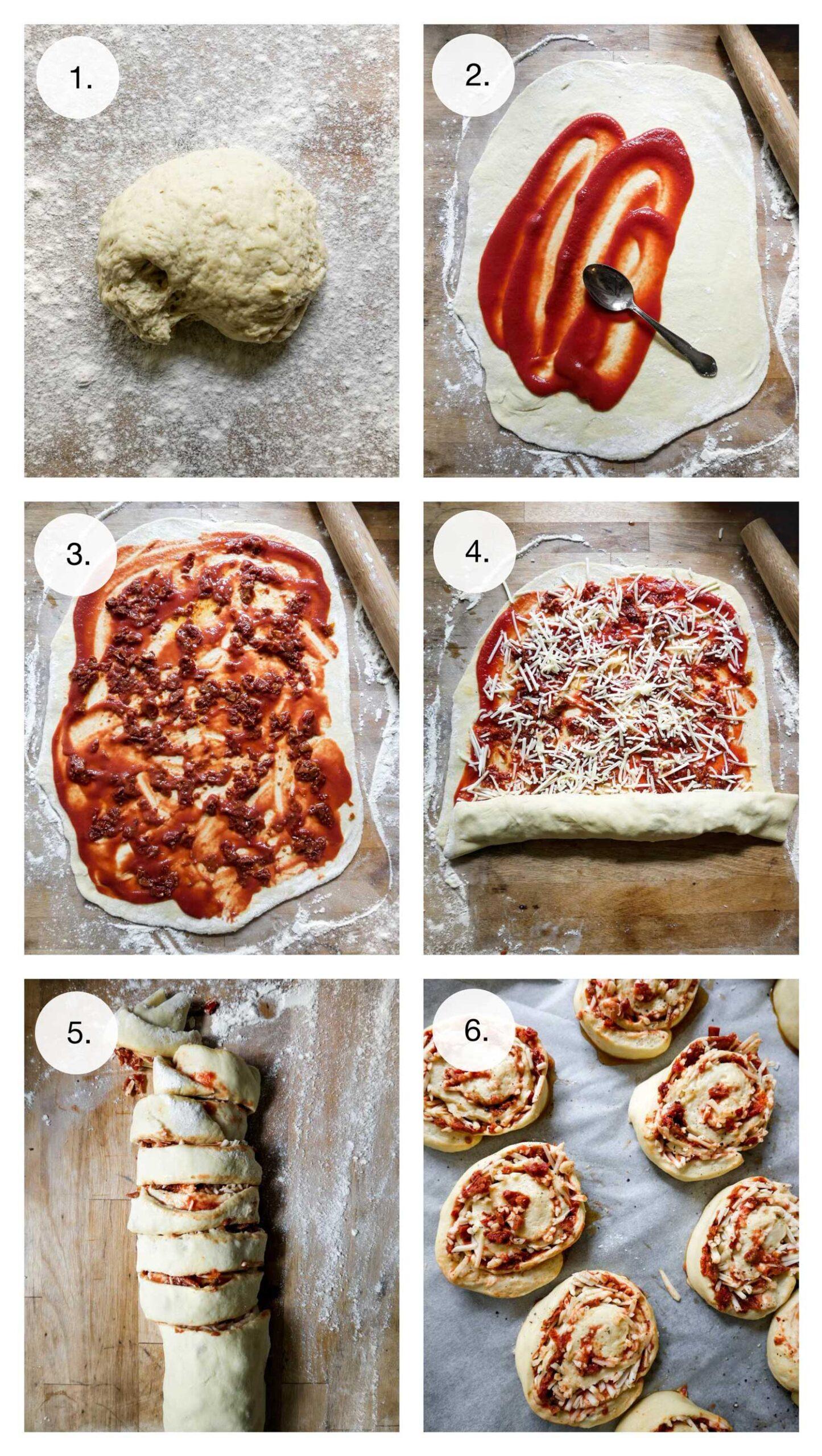 sådan laver du pizzasnegle uden kød
