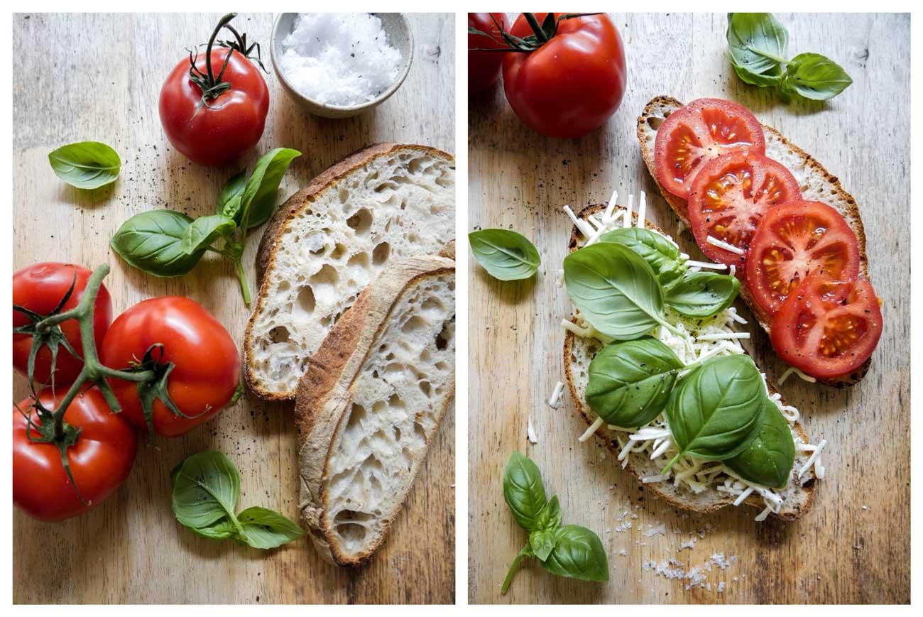 sådan laves veganske panini og sandwich med tomat