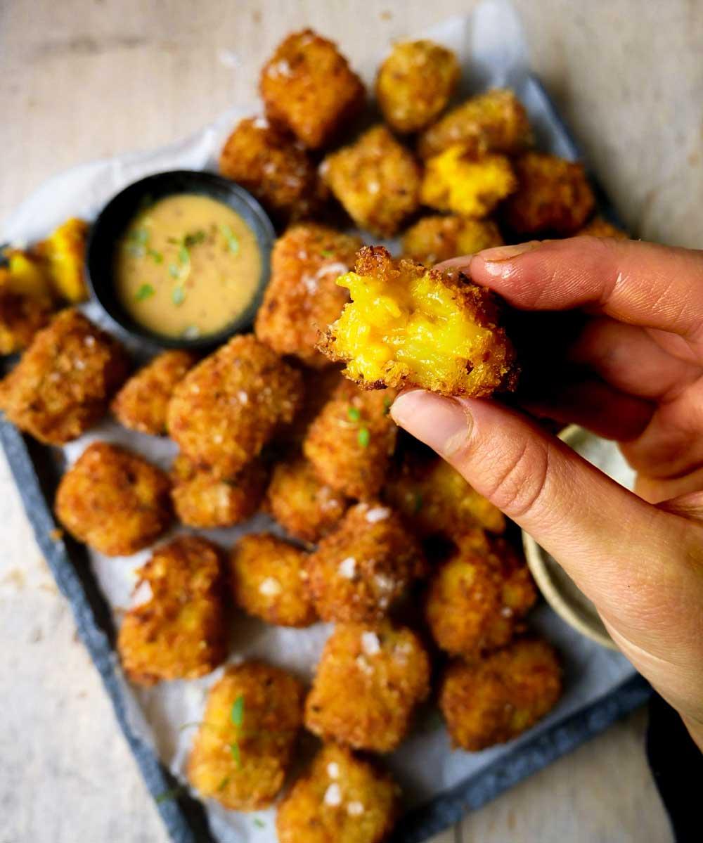 sprøde bidder af kartofler