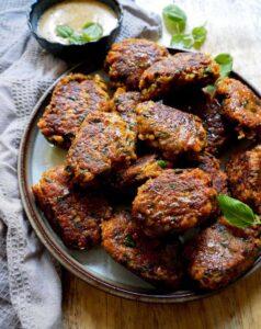 veganske frikadeller uden kød til aftensmad