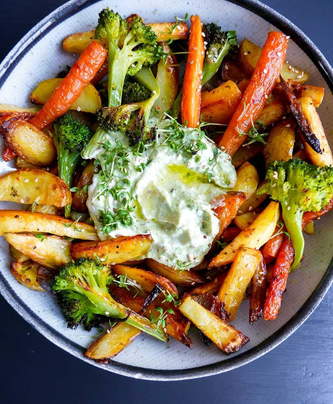 ovnbagte grøntsager