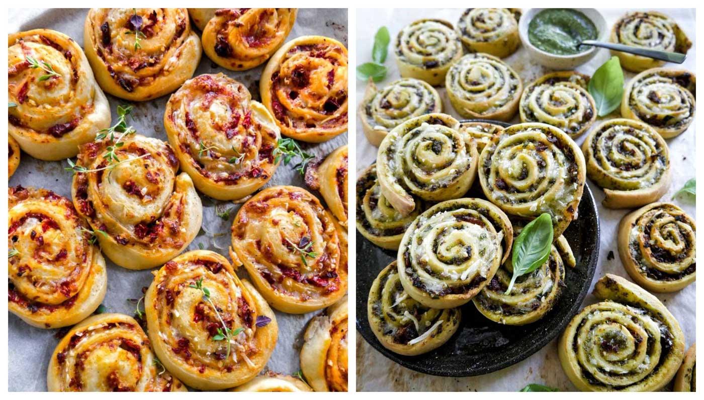 pizzasnegle 2 veganske opskrifter med tomat og spinat