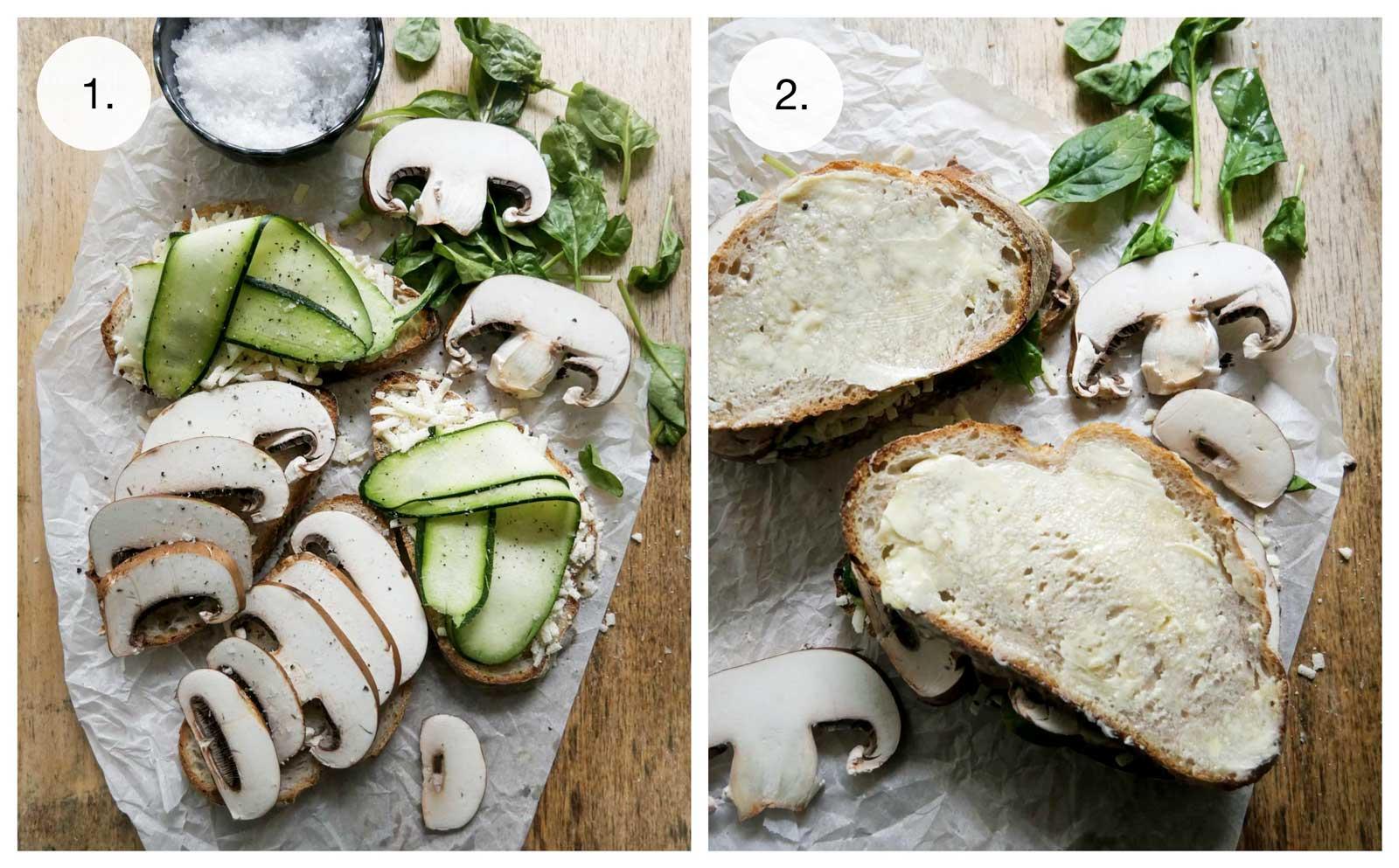 sunde toasts med champignon
