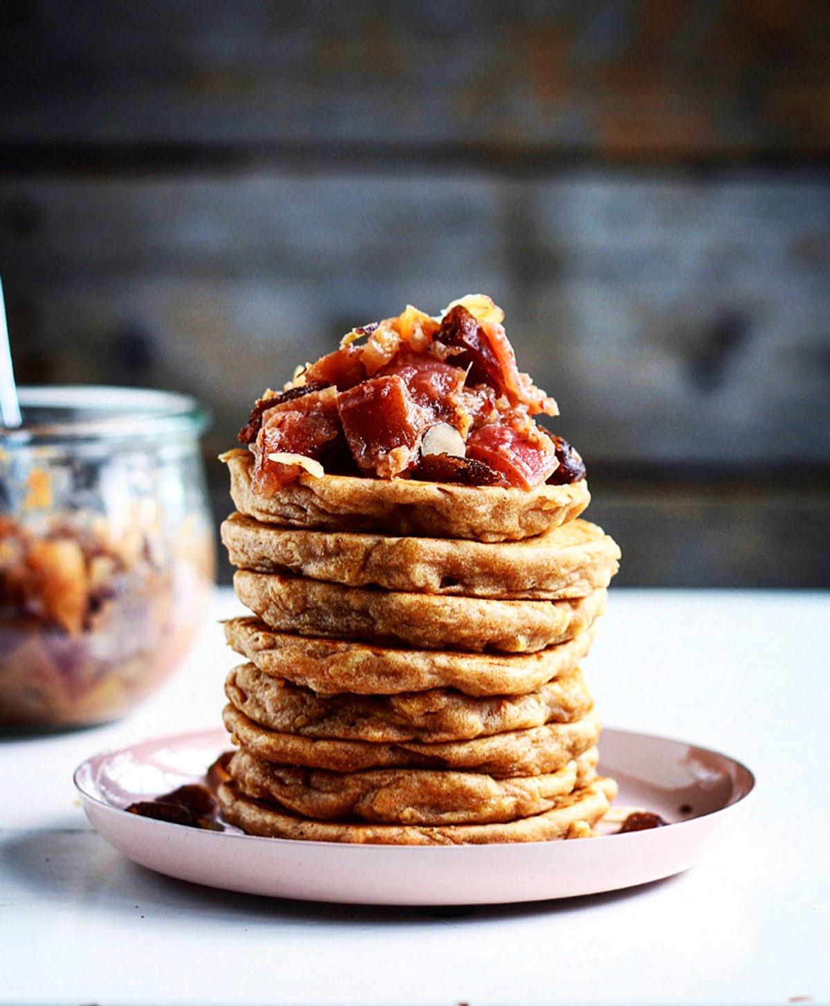 nemme luftige opskrift på æblepandekager
