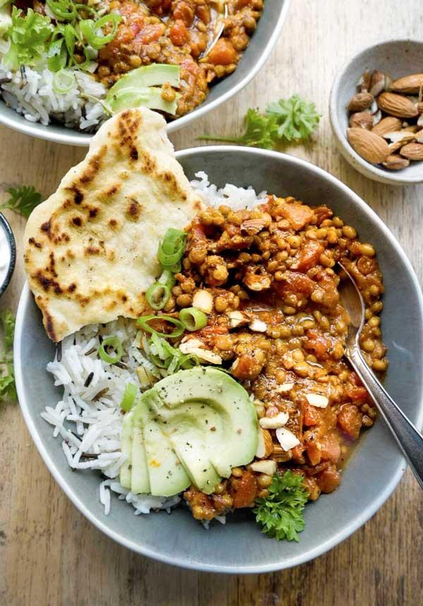 dahl med linser vegansk aftensmad til vinter