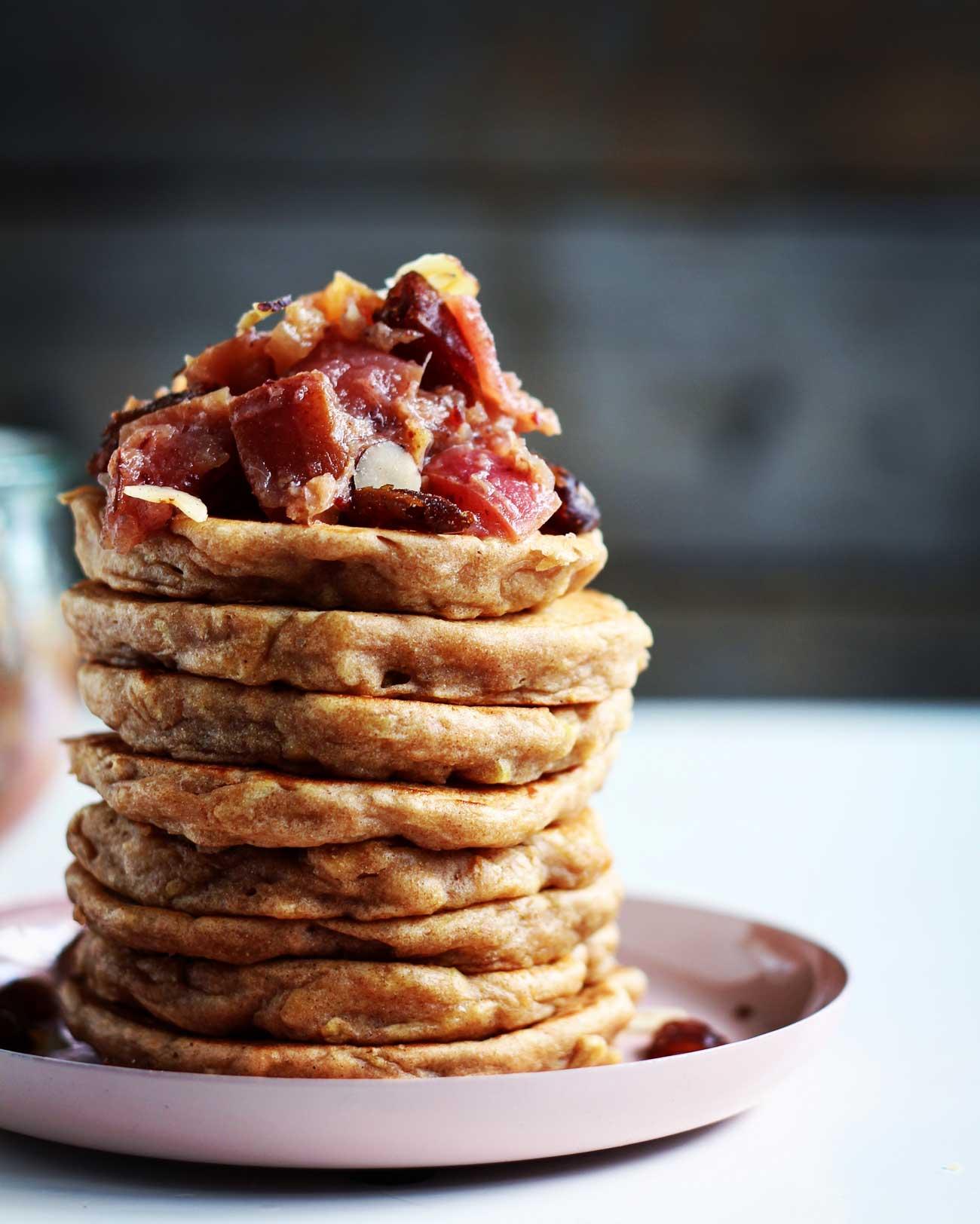 pandekager med æble vegansk opskrift på pandekager