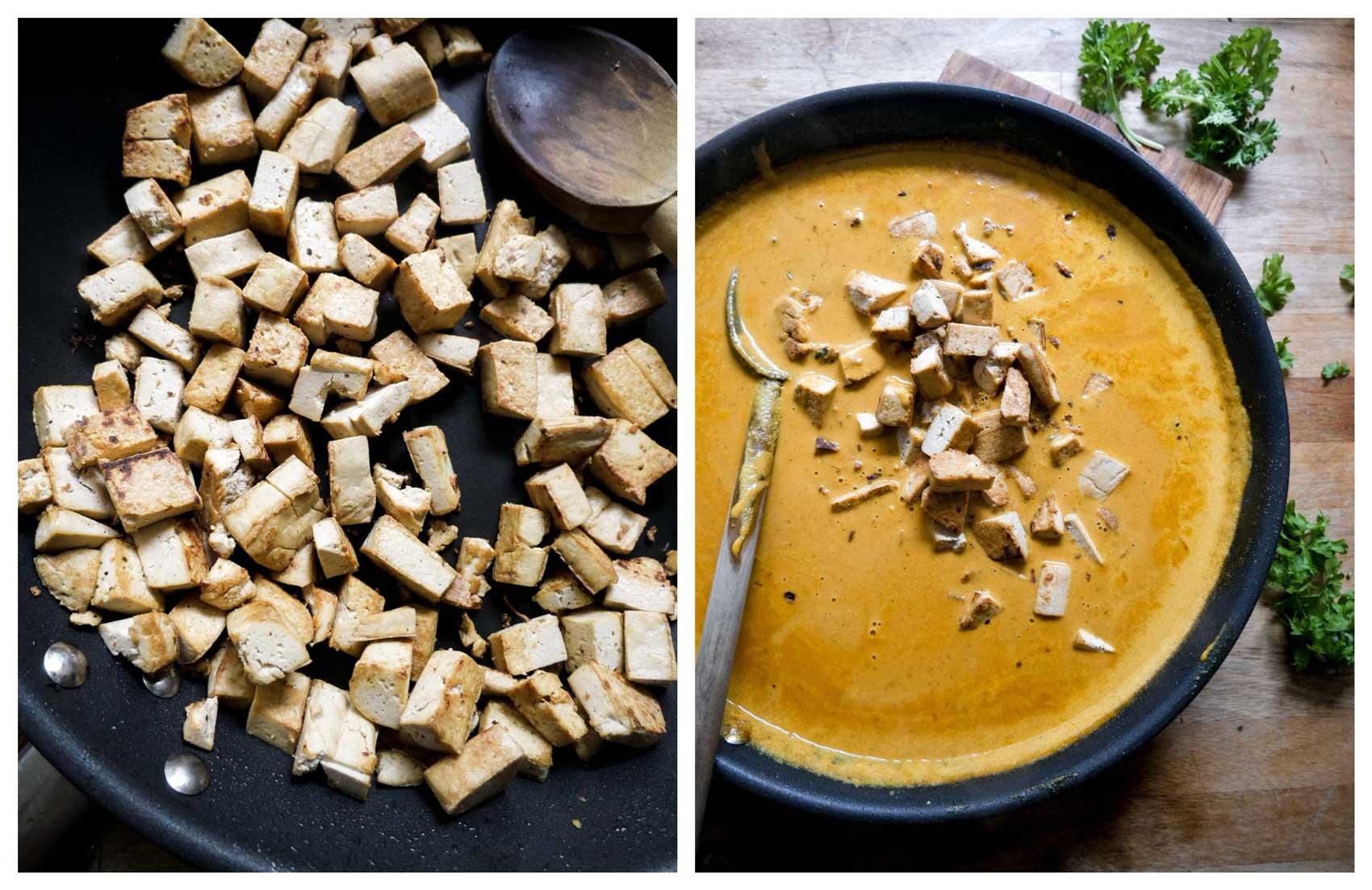 tofu til tikka masala indisk gryderet