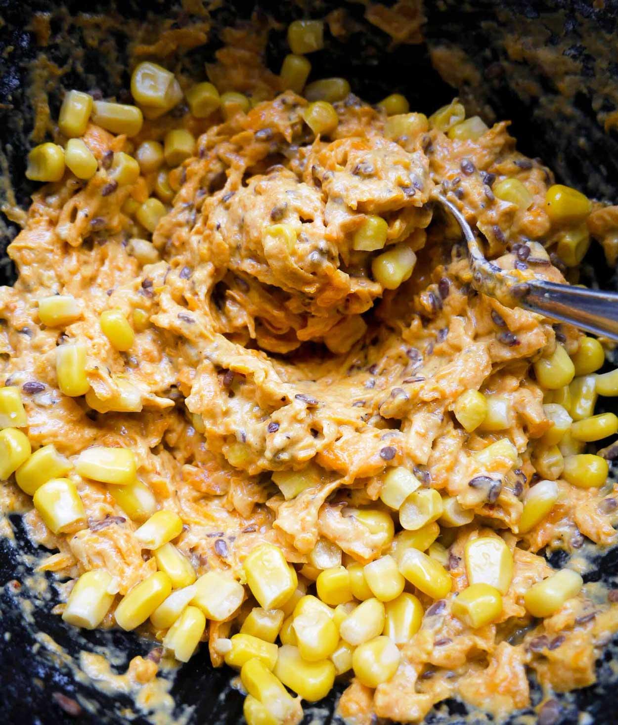majs og græskar til frikadelle fars