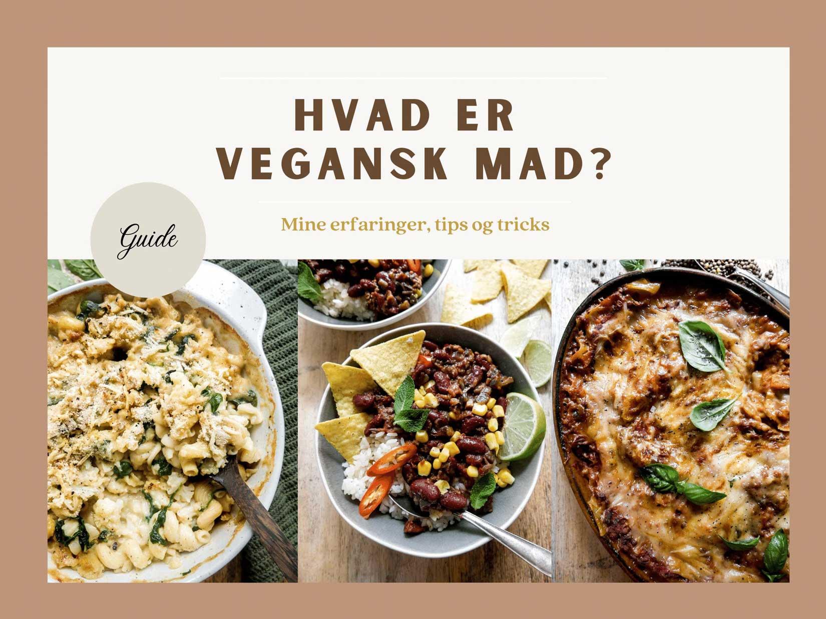 cover på hvad er vegansk mad guide med tips og tricks