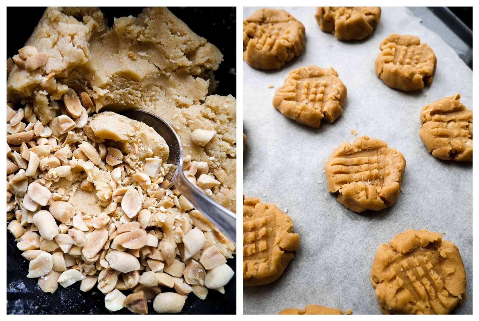 veganske kager og småkager med peanuts
