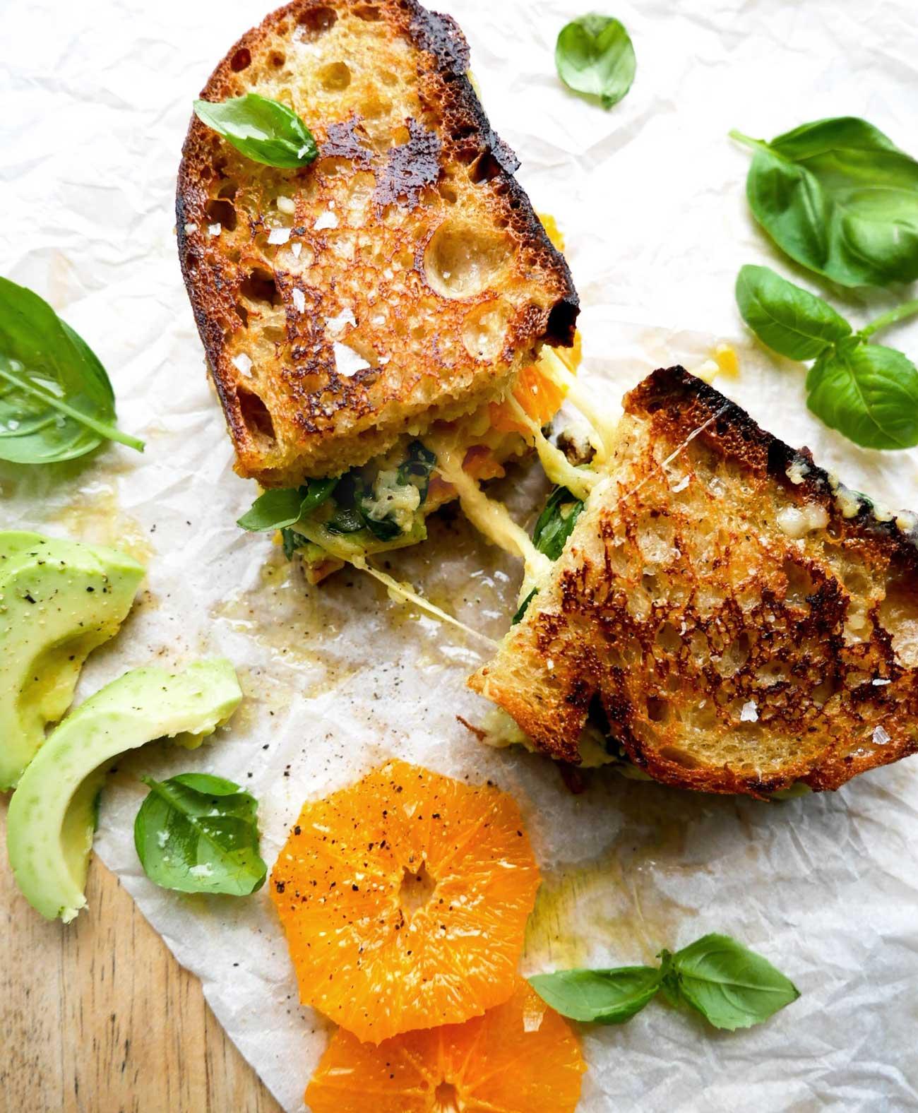 toast med grillet appelsin