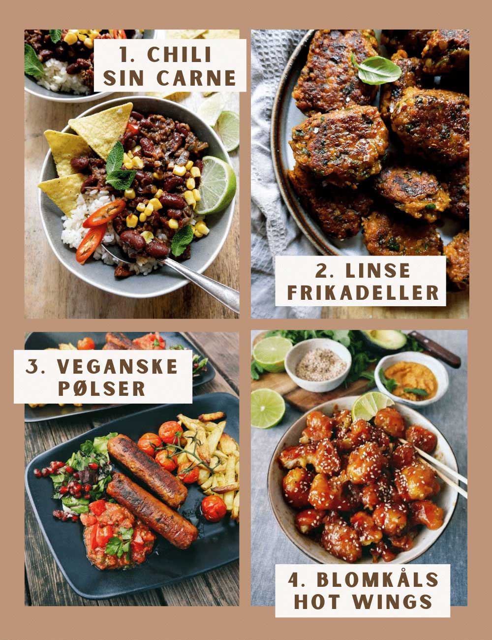 vegansk kød 4 bud på opskrifter