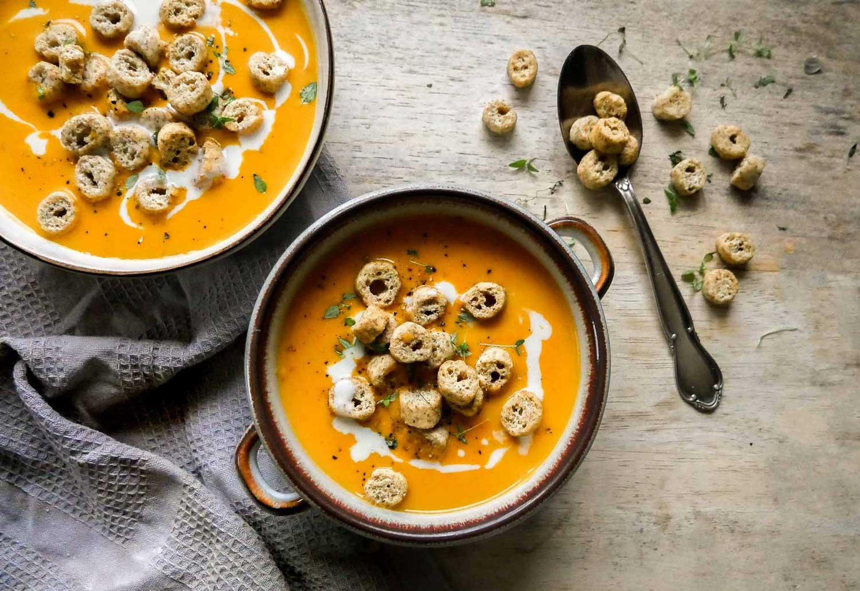 nem vegansk suppe med butternut squash