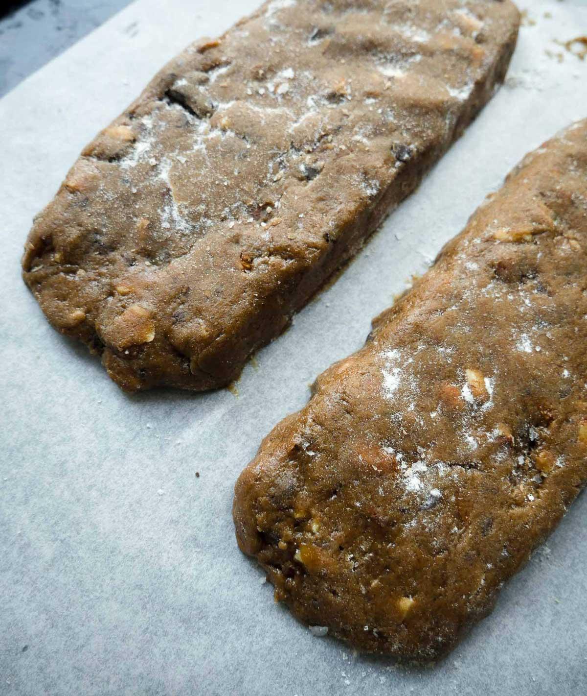vegansk opskrift på biscottis bagt i ovnen