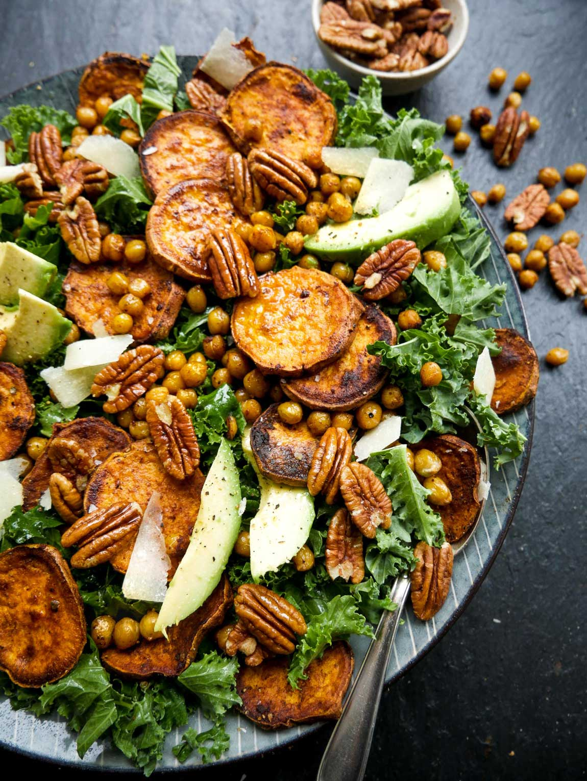 vegansk salatopskrift på grønkålssalat