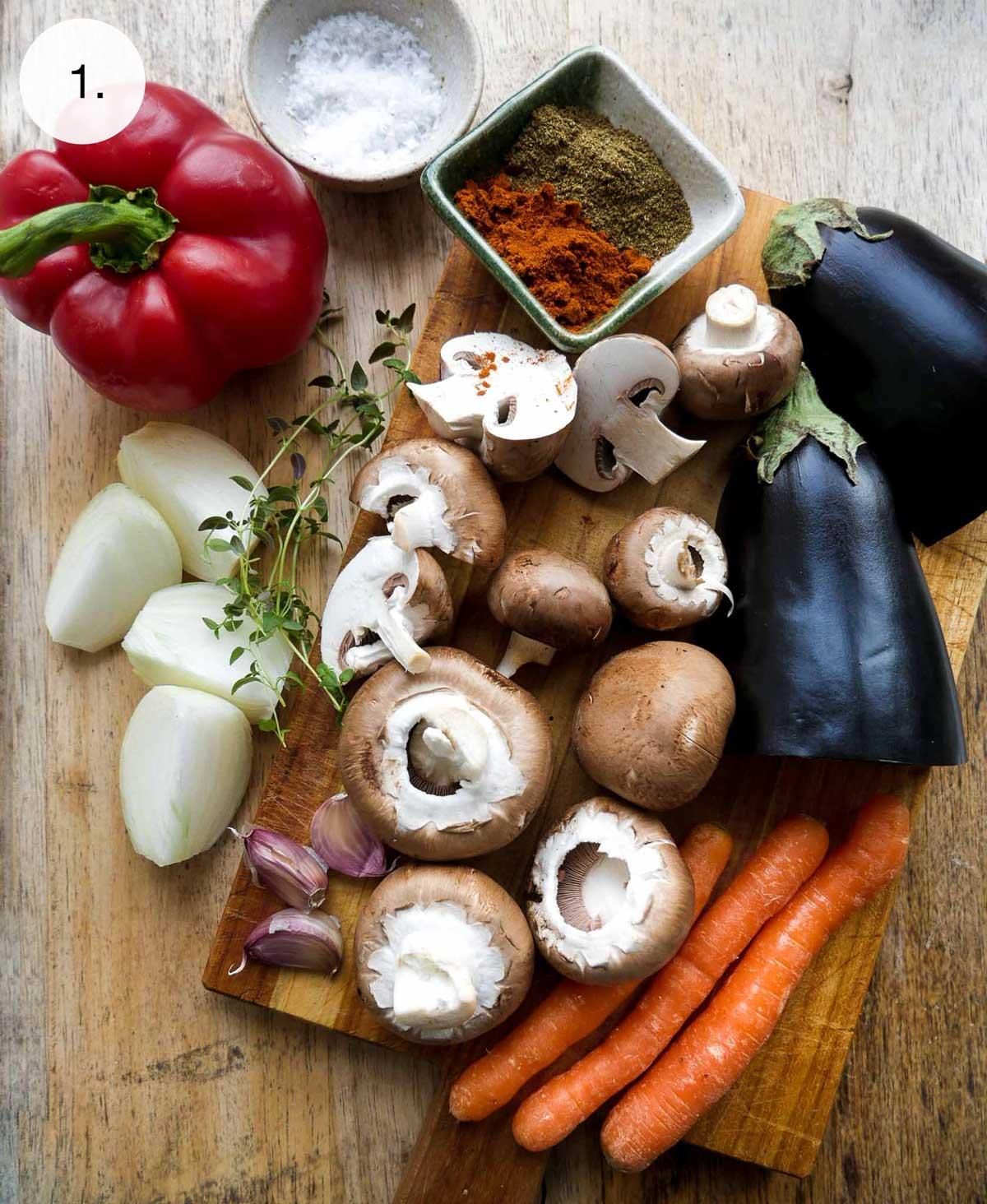 grøntsager til hjemmelavet plantebrød