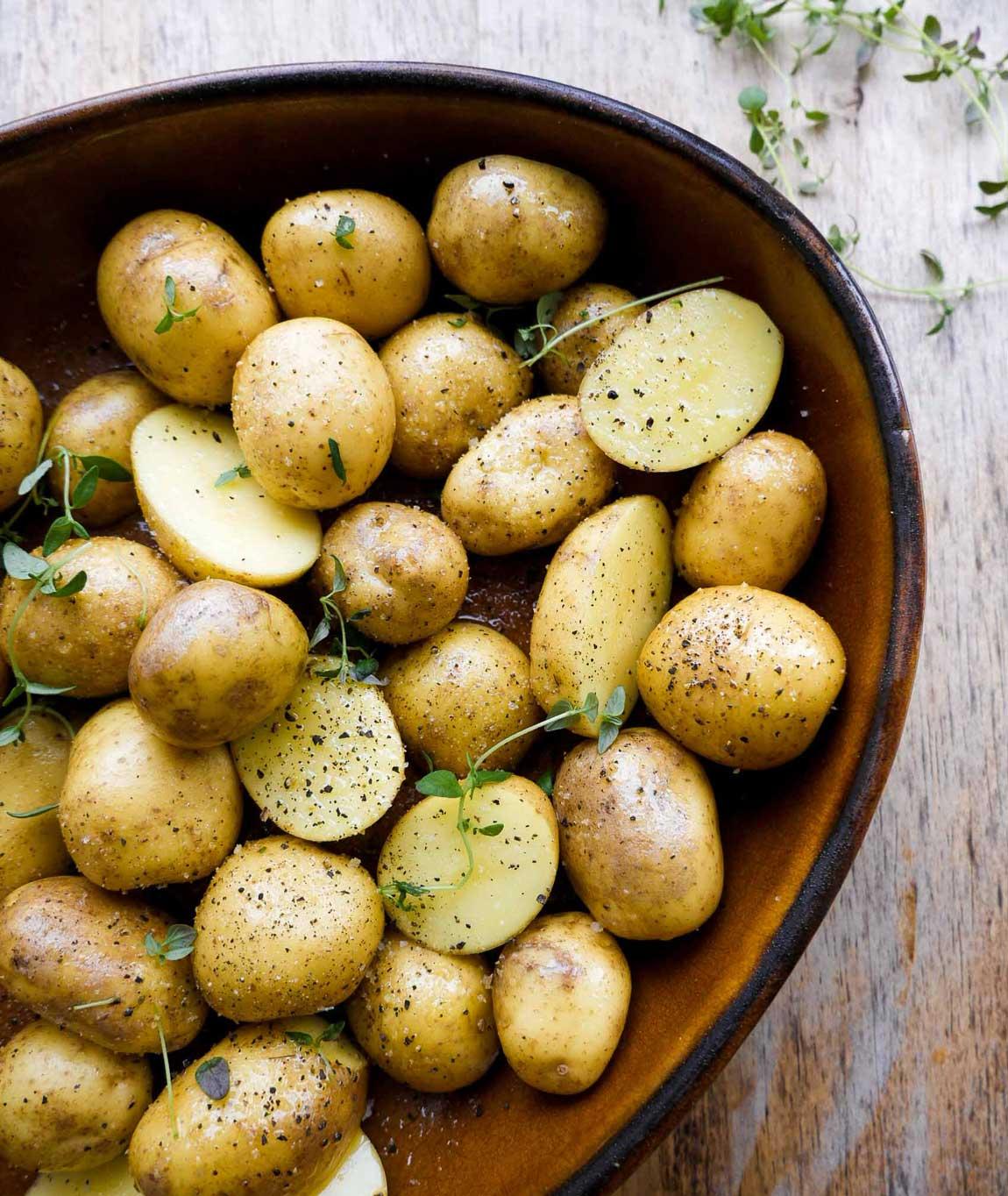 stegte kartofler i ovn