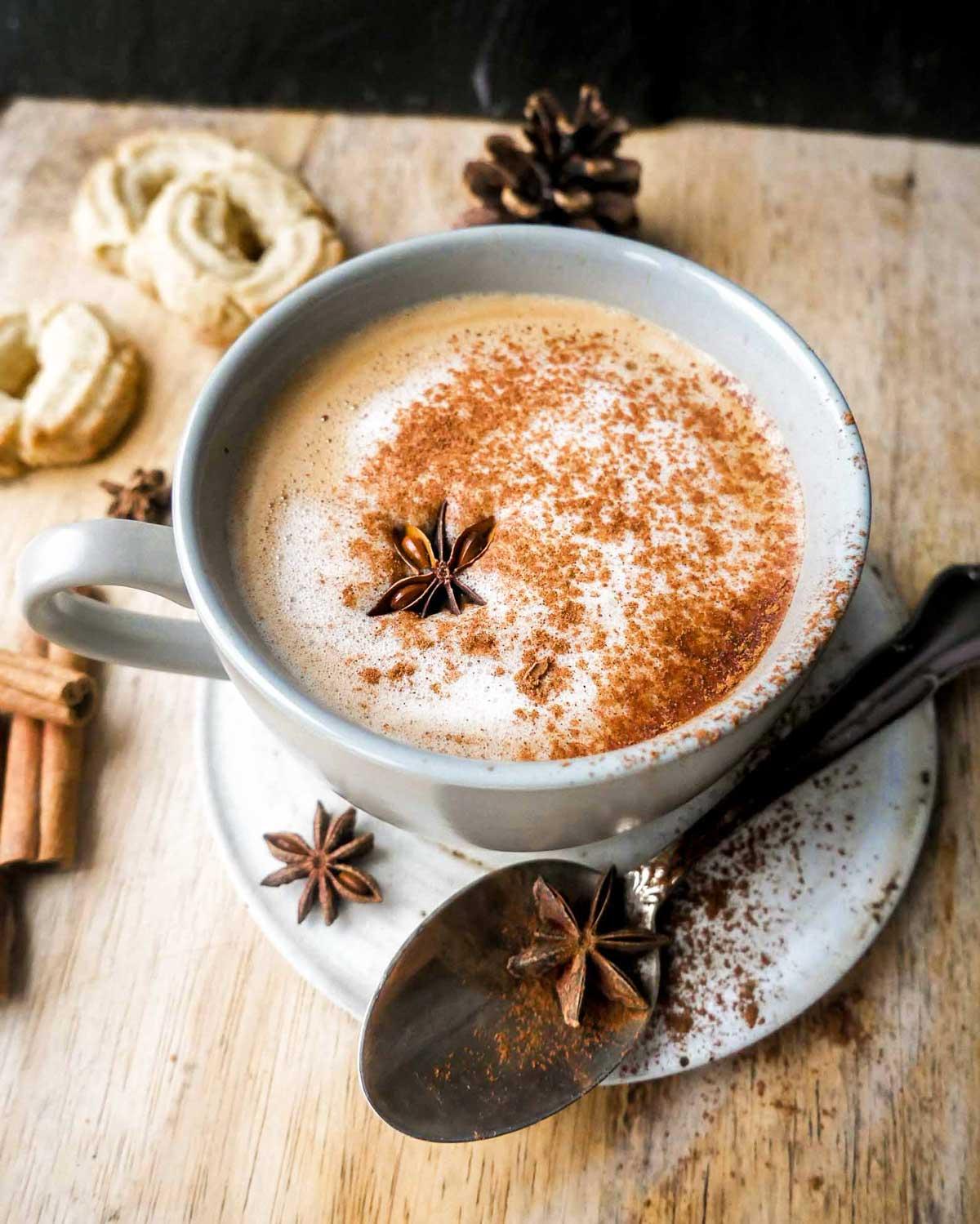 kanel cafe latte vegansk juleopskrift