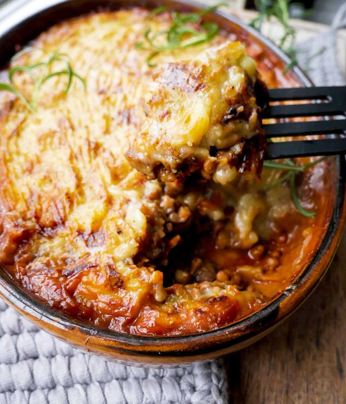 vegansk og vegetarisk shepherds pie