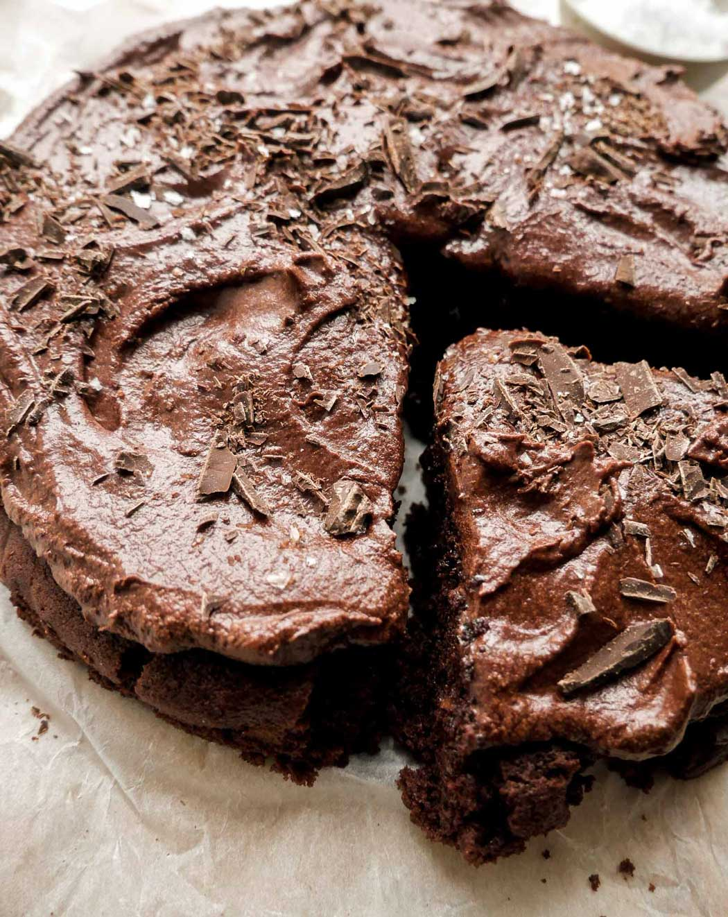 svampet lækker chokoladekage en vegansk kage opskrift