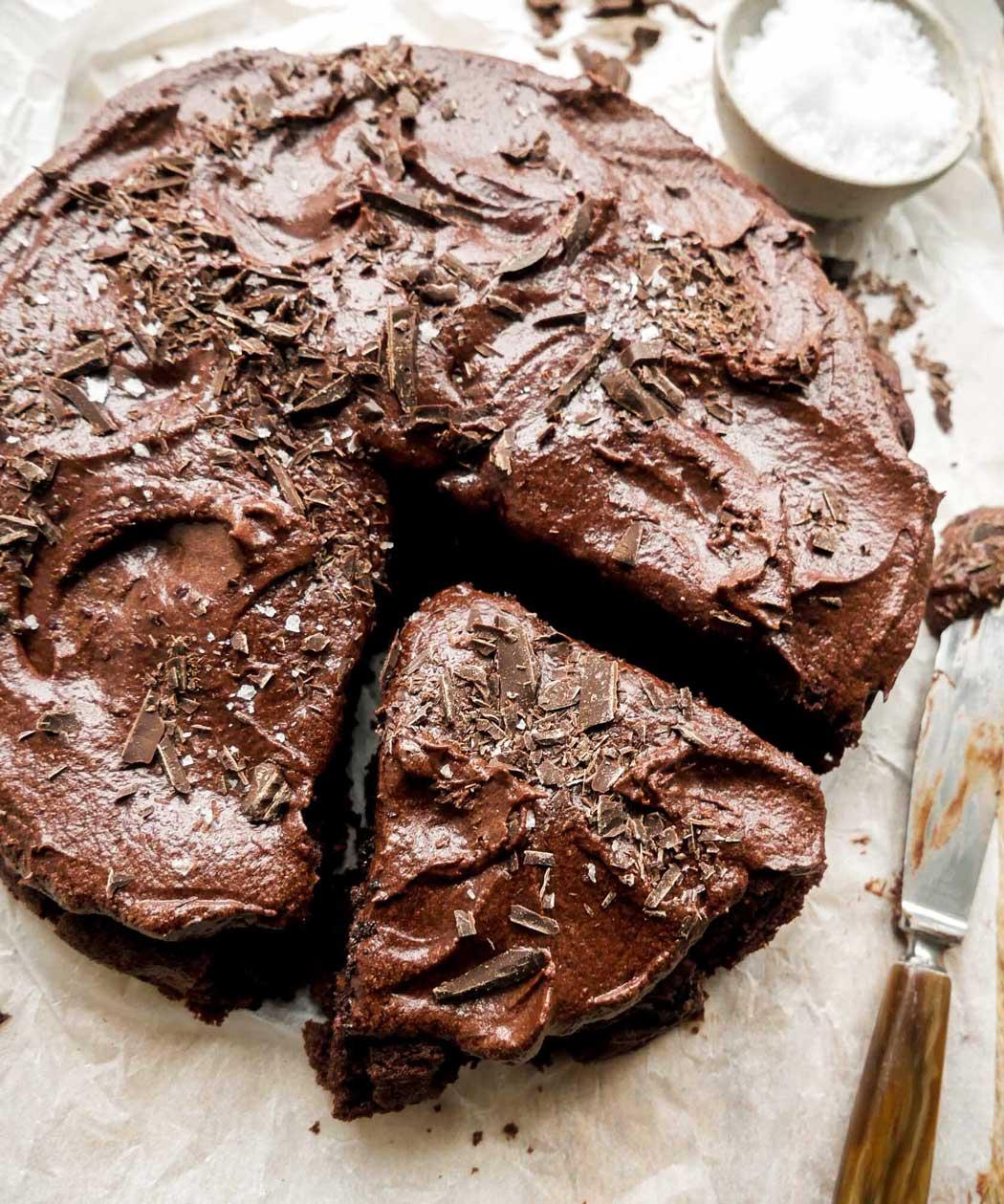 den bedste opskrift på vegansk chokoladekage