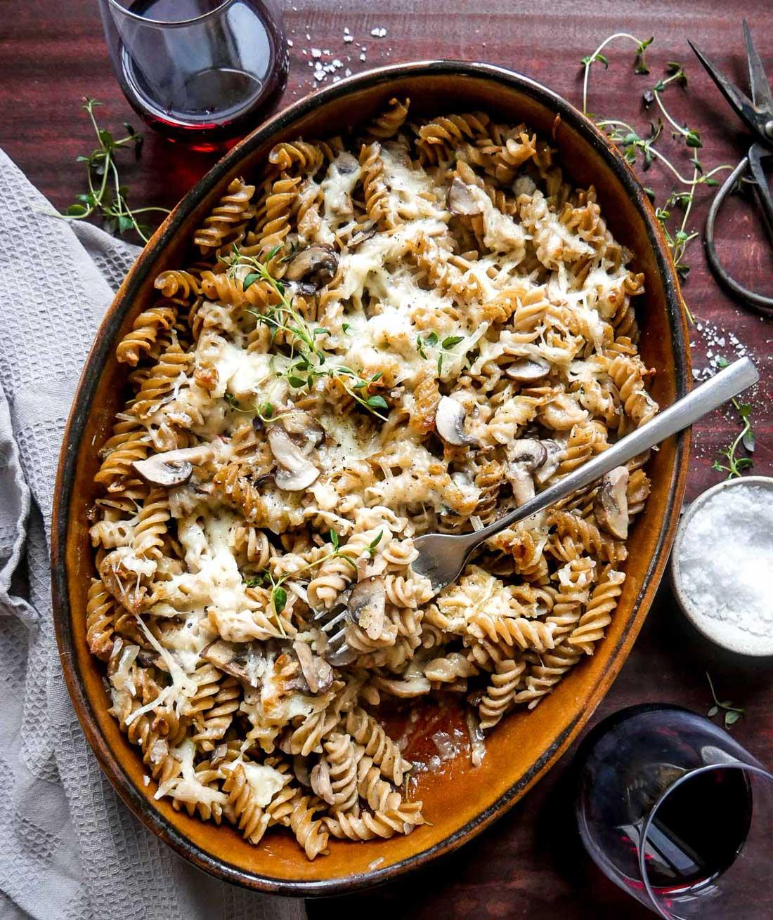 bagt pasta opskrift på vegansk pastaret