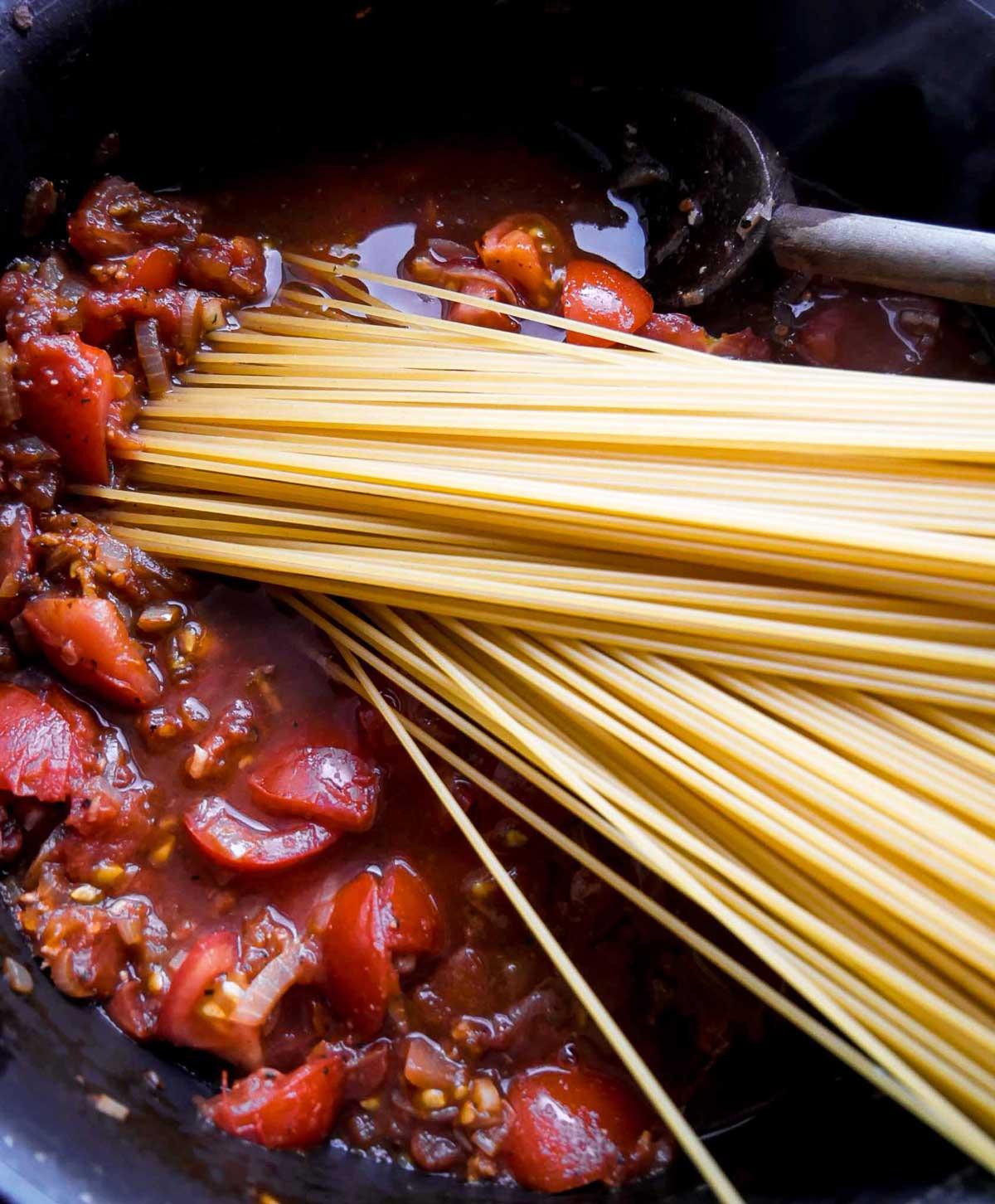 one pot spaghetti med tomat