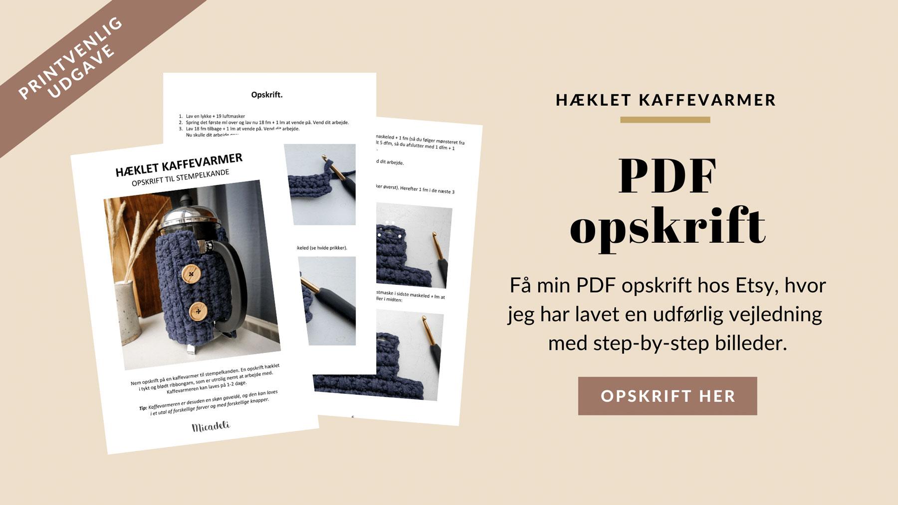 PDF opskrift med en udførlig vejledning og step-by-step billeder