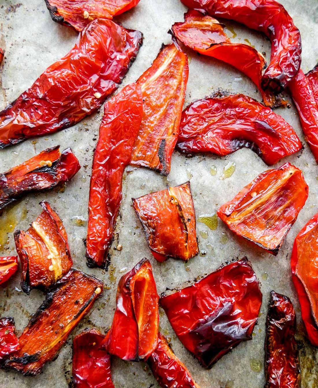 ovnbagte peberfrugter i ovn