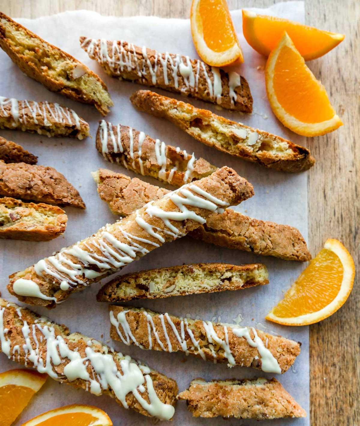 sprode biscotti med appelsin